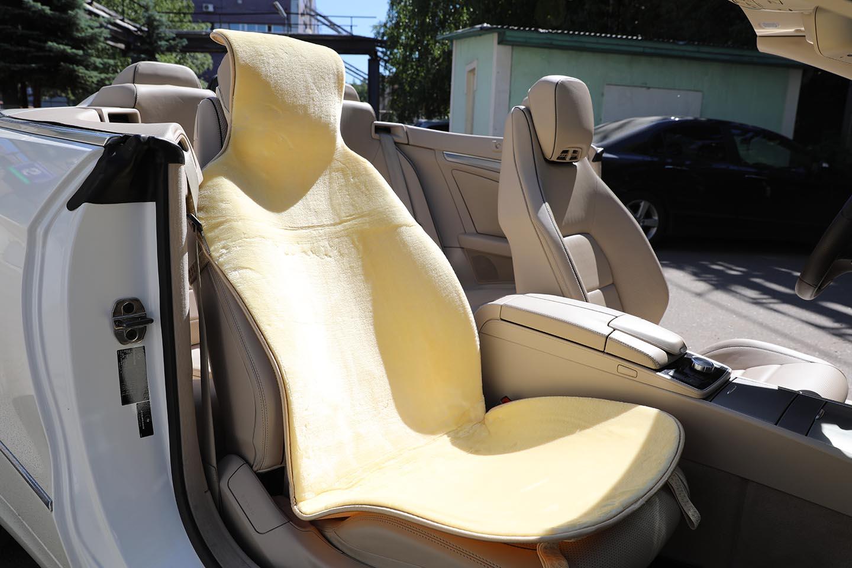 Меховая накидка для автомобильного сиденья