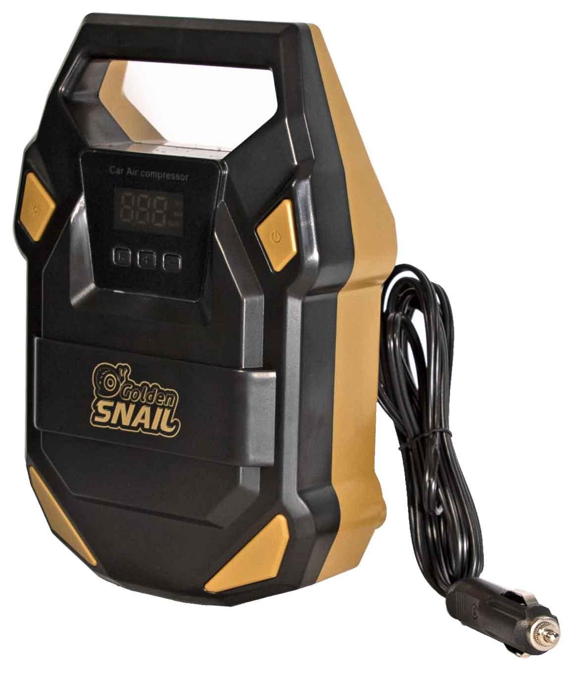 Компрессор автомобильный с индикатором и дисплеем Golden Snail, 35 л